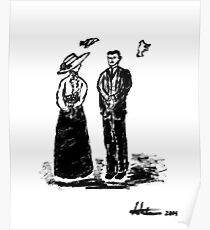 Nikola Tesla and Lady Poster