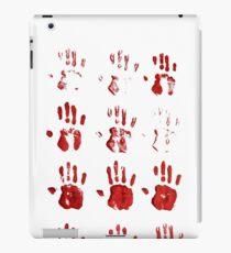 bloddy hands iPad Case/Skin