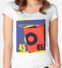 Pop Art 45 Vinyl Record Women's Fitted Scoop T-Shirt