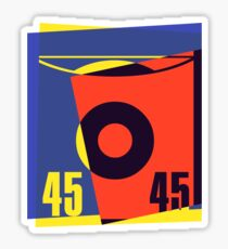 Pop Art 45 Vinyl Record Sticker