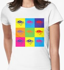 Pop Art 1200 Turntable Women's Fitted T-Shirt
