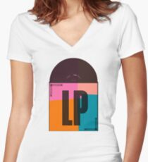 Album LP Pop Art Women's Fitted V-Neck T-Shirt