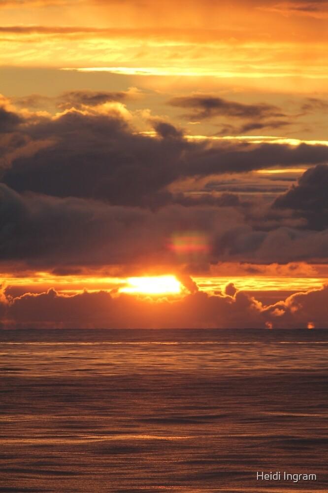Sunset at Sea by Heidi Ingram