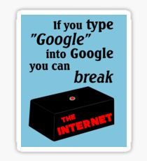 IT Crowd - Google The Internet Sticker