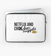 Netflix und Chicken Nuggets Laptoptasche