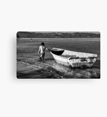 Back to the mooring Canvas Print