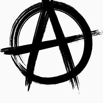 Circle-A Anarchy Symbol (light t-shirt version) by lyubomir