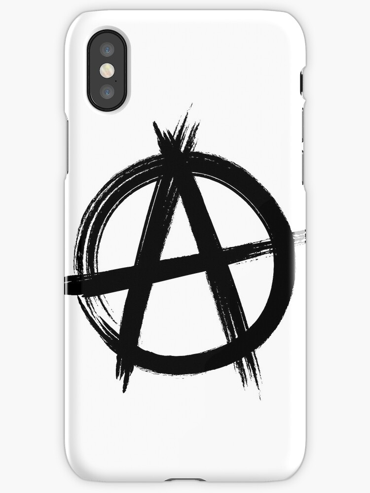 Circle A Anarchy Symbol Light T Shirt Version Iphone Cases