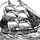 Classic Sailing Ship 01 by cartoon