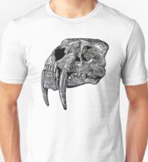 Sabre tooth skull Unisex T-Shirt