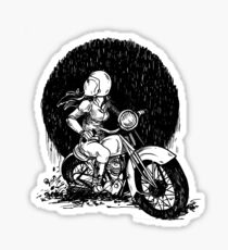 Women Who Ride- We like Dirt and We got Titties Sticker