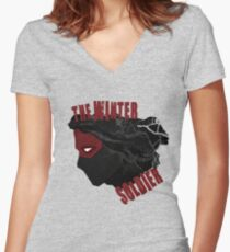 the winter soldier Women's Fitted V-Neck T-Shirt