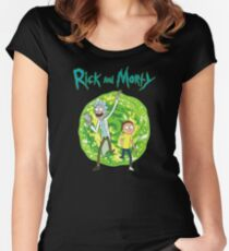 Rick and Morty season 1 Women's Fitted Scoop T-Shirt