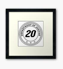 Department of Justise  Framed Print