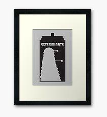 Dalek within Tardis Framed Print