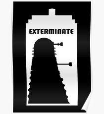 Dalek within Tardis (white) Poster