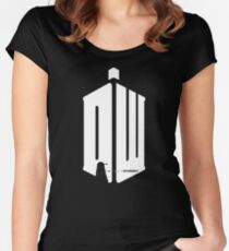 Dalek (exterminate/white) Women's Fitted Scoop T-Shirt