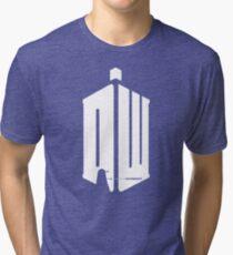 Dalek (exterminate/white) Tri-blend T-Shirt