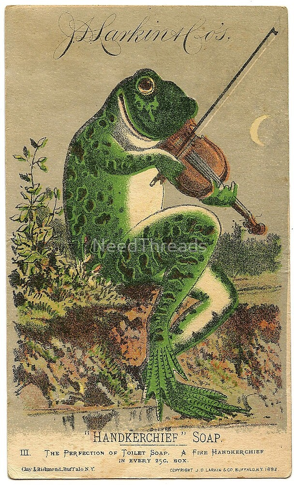 Frog Violinist by NeedThreads