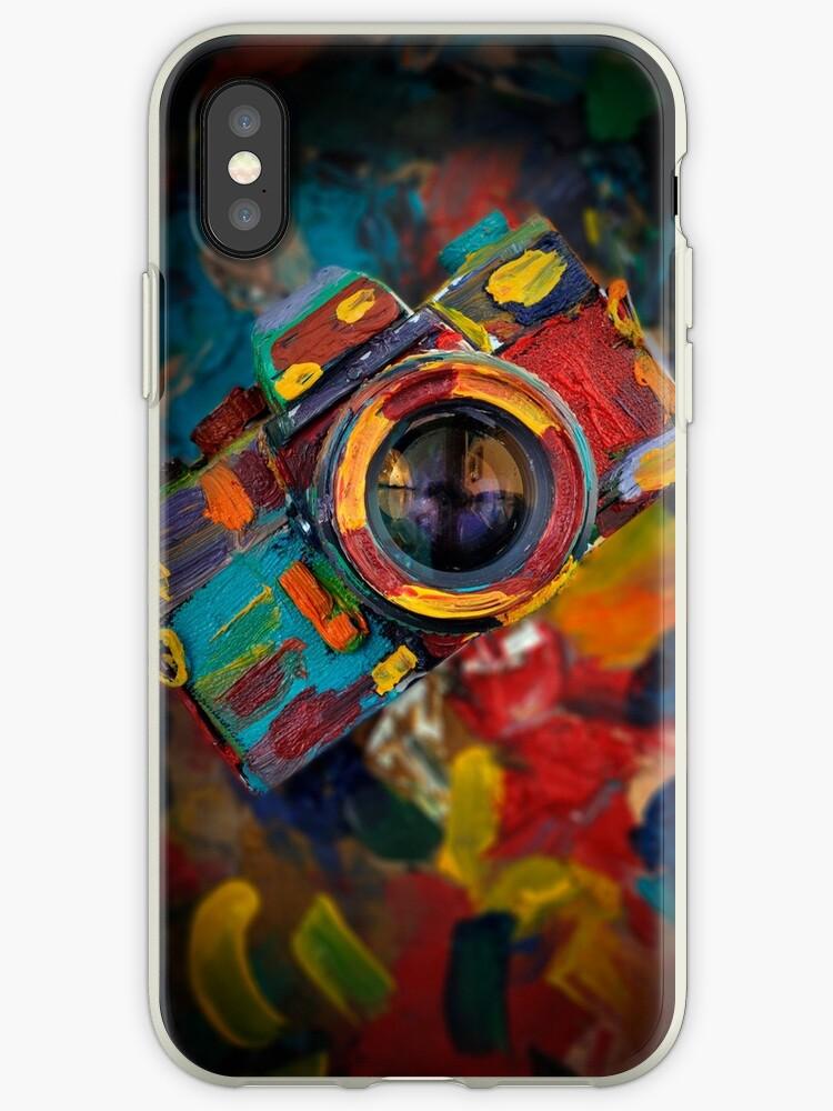 oil paint retro camera by laikaincosmos