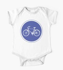 Cyclist Warning Sign v2 One Piece - Short Sleeve
