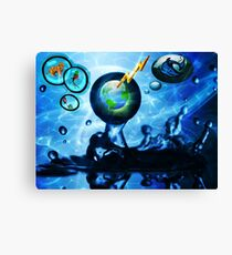 A Drop In The Ocean, Is It Too Late? Canvas Print
