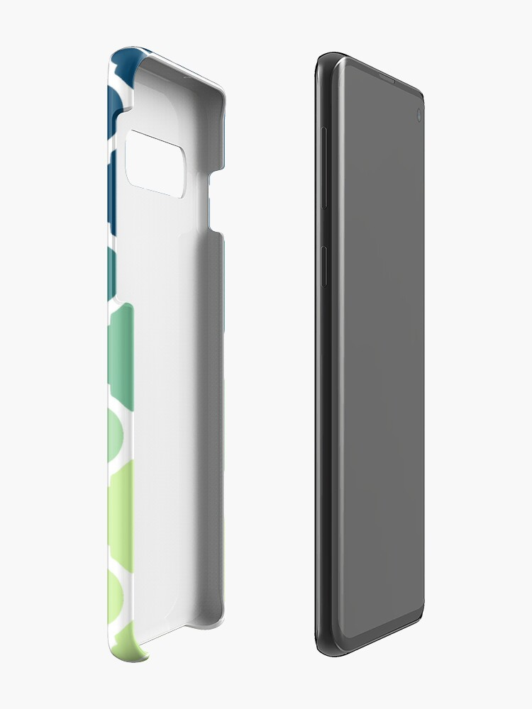 Alternate view of Moroccan Tile Pattern In Blue Green Ombre Case & Skin for Samsung Galaxy