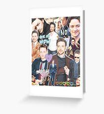 james mcavoy collage Greeting Card