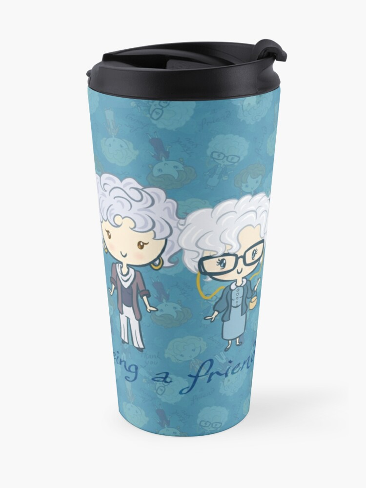 Alternate view of thank you for being a friend Travel Mug