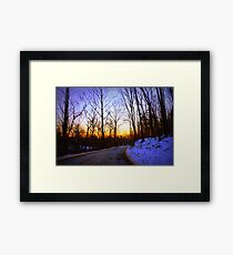 Curve in Rogues Road Framed Print