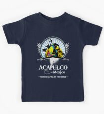 Acapulco Beach Mexico Kids Tee