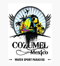 Cozumel Mexico Summer Place Photographic Print