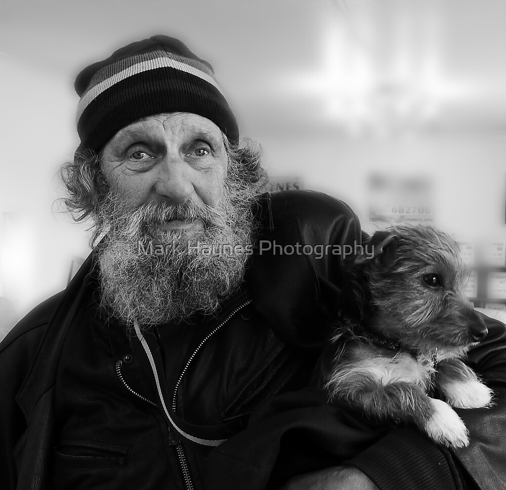 Geoffrey the blind motorcyclist and dog.. by Mark Haynes Photography