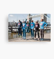 london Marathon  Elite Men Canvas Print