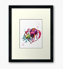 Spiders in Love Framed Print