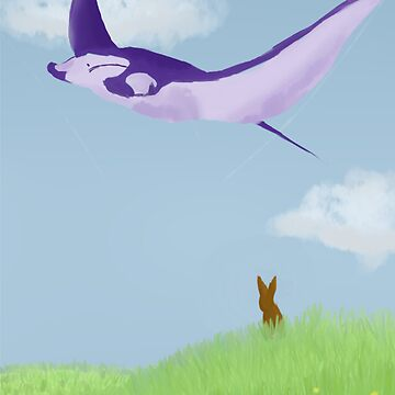 Flying manta ray by mllemaple