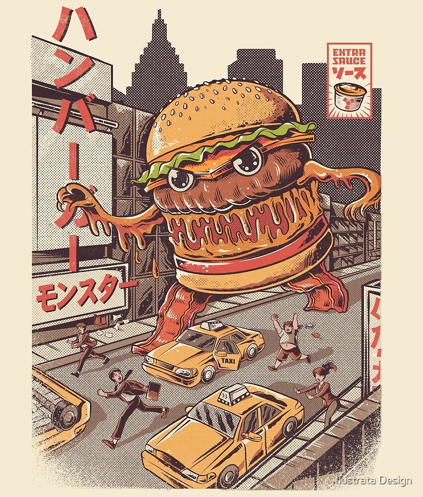 BurgerZilla by Ilustrata Design