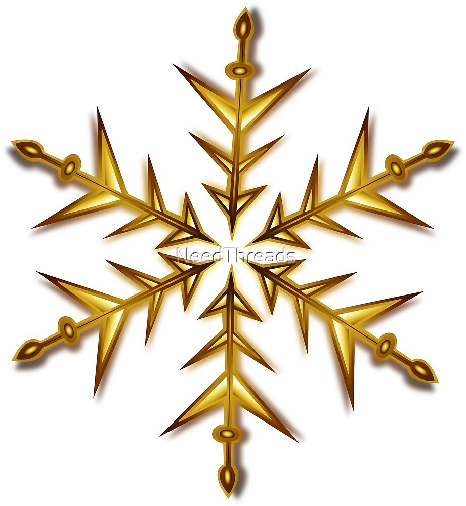Gold Snowflake by NeedThreads