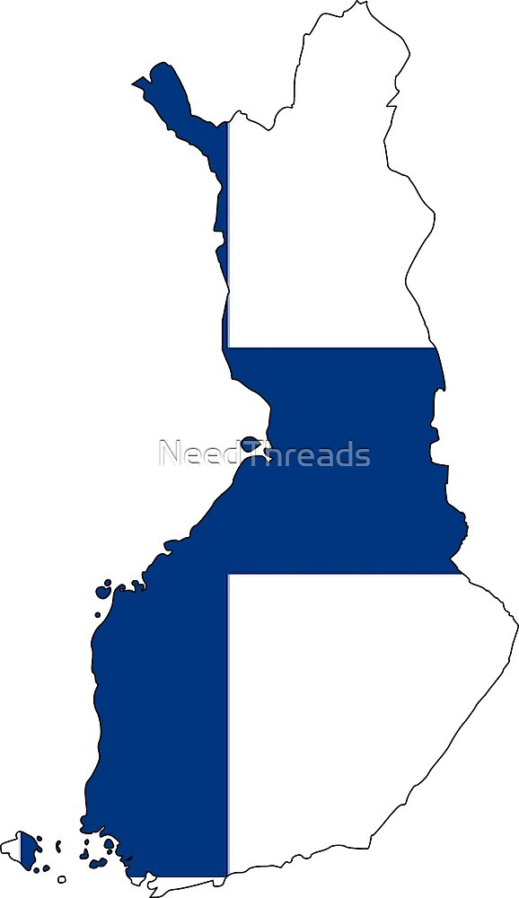 Finland Flag Map by NeedThreads