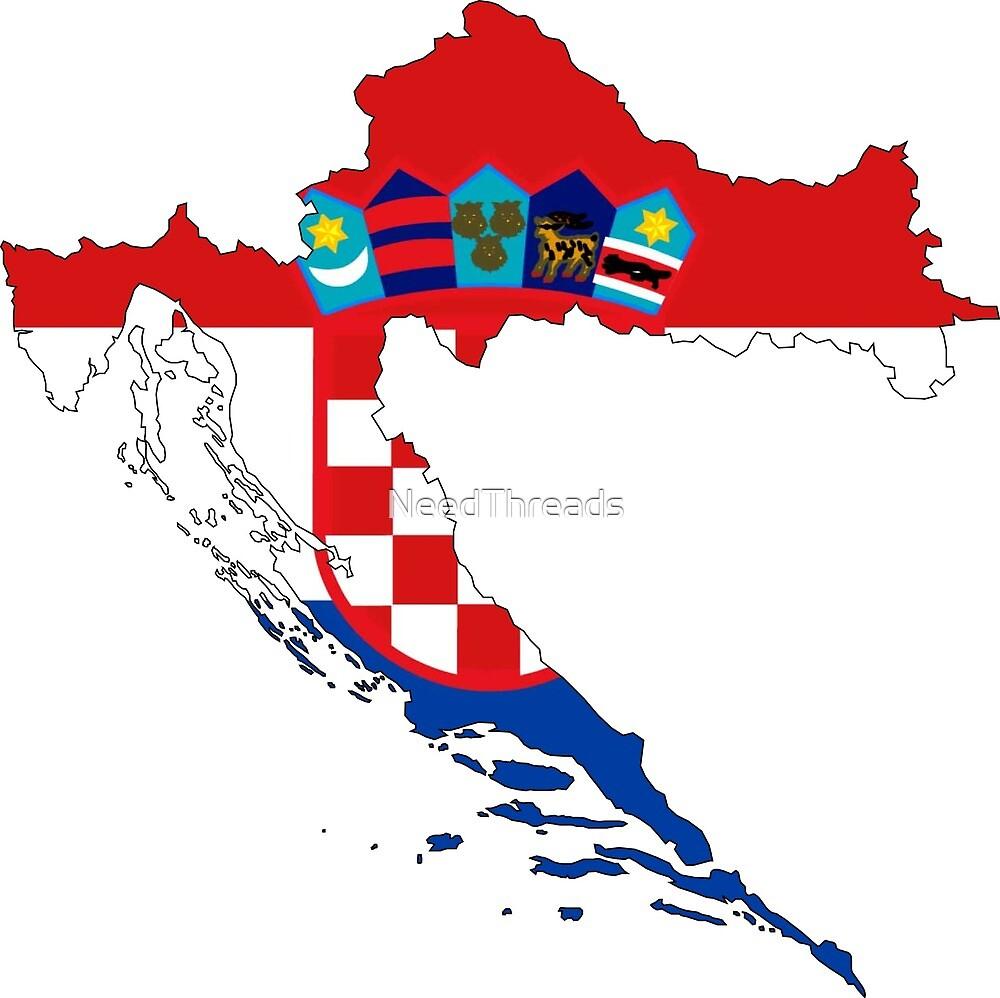 Croatia Flag Map by NeedThreads