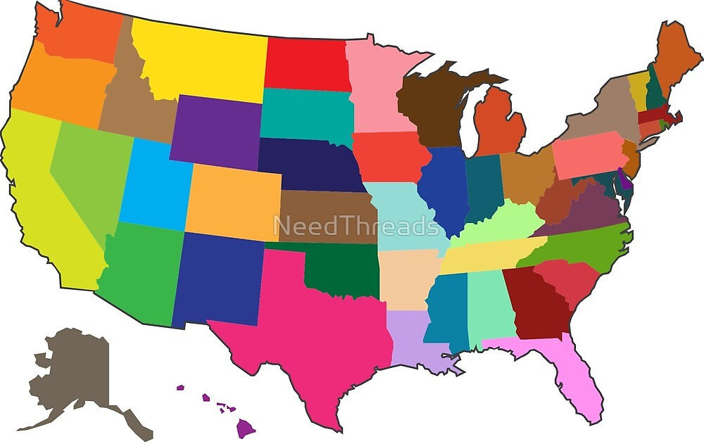 United States Map by NeedThreads