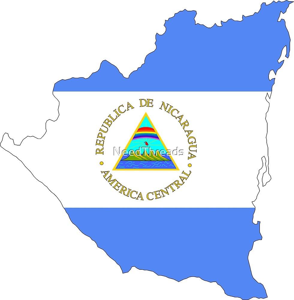 Nicaragua Flag Map by NeedThreads