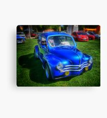 Ancient French Car Renault 4CV Canvas Print