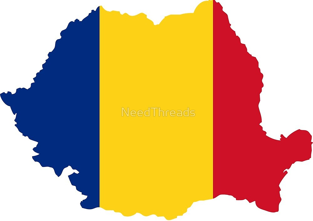 Romania Flag Map by NeedThreads