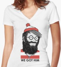We Got Him Women's Fitted V-Neck T-Shirt