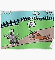 thief runs away from ferocious dog Poster