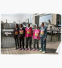 london Marathon  Elite Women Poster
