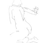 Nude Woman Drawing 6 by Gordon-Punt