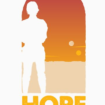 Hope - Tatooine's New Hope! by wittytees