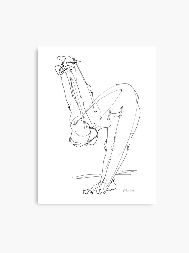 Mujer Desnuda Dibujo 9 Lámina Metálica